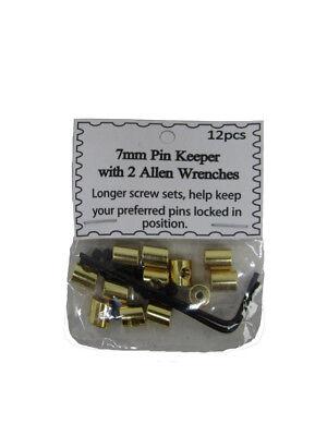 (120 Tiele ) 7mm Gold Pin Keepers Mit / Inbus Schraubenschlüssel (rückseiten Klar Und GroßArtig In Der Art