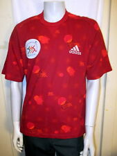 ADIDAS IAAF WORLD CHAMPIONSHIPS 1999 SEVILLE SPAIN MENS SHIRT RUBY RED NWT LARGE