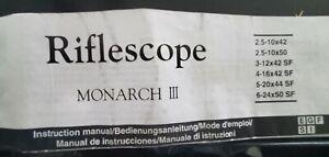 nikon monarch rifle scope