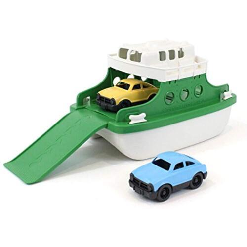 """Green//White 10/""""X 6.6/""""x 6.3/"""" Bath Toys Green Ferry Boat Bathtub Toy"""