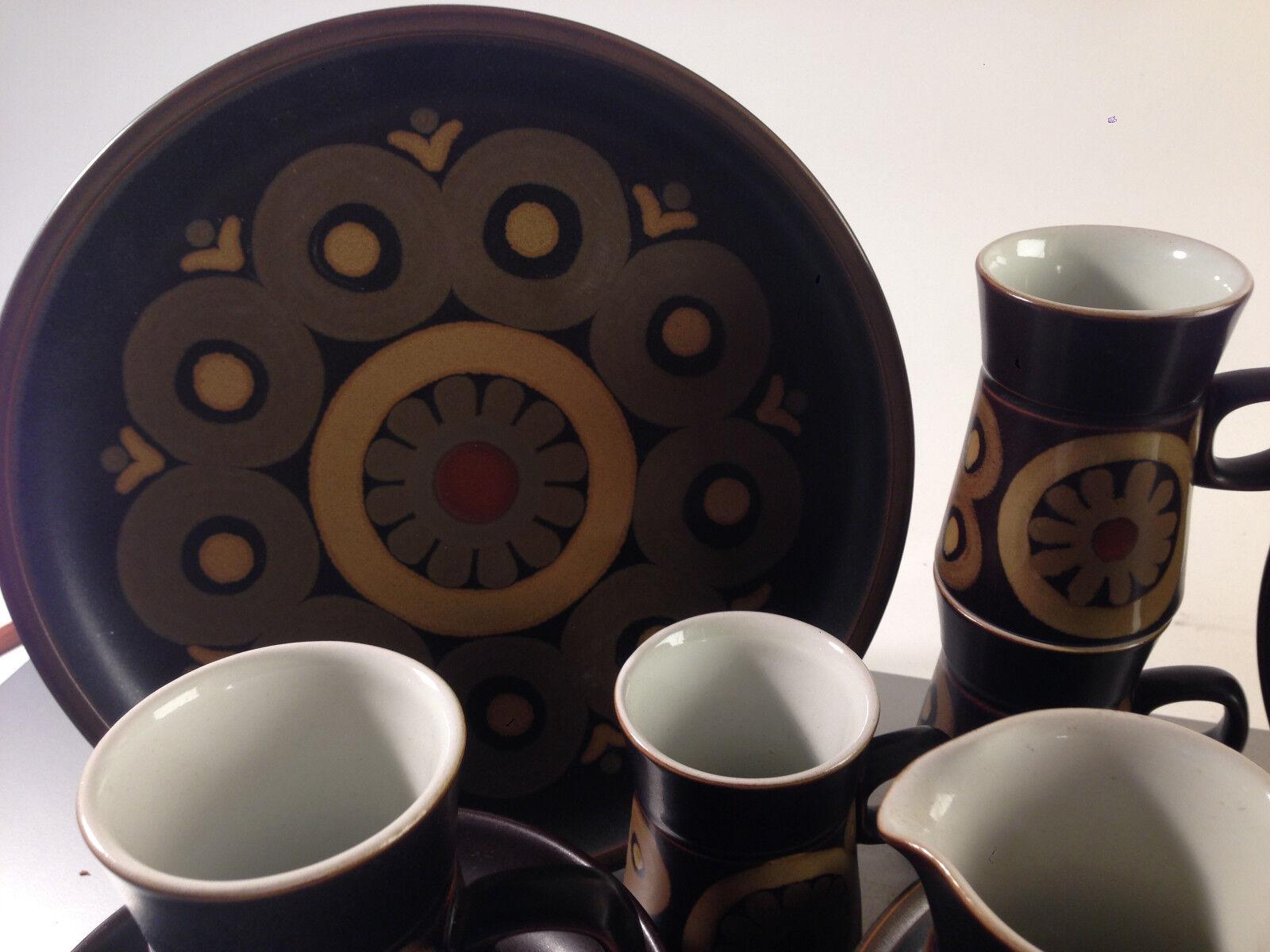 (z87) (z87) (z87) DENBY Arabesque Service 60er Design Gill Pemberton Teller Tassen Kännchen 2cda6a
