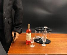 6pcs Dollhouse Accessories Mini Wine Bottles Model Bottle Rack And G2U2