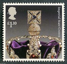 """The Crown Jewels """"Imperial State Crown"""" illustrated on 2011 Stamp - U/M"""