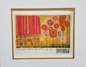 Friedensreich Hundertwasser The Trees Are the Flowers.. Matted offset Litho 1986