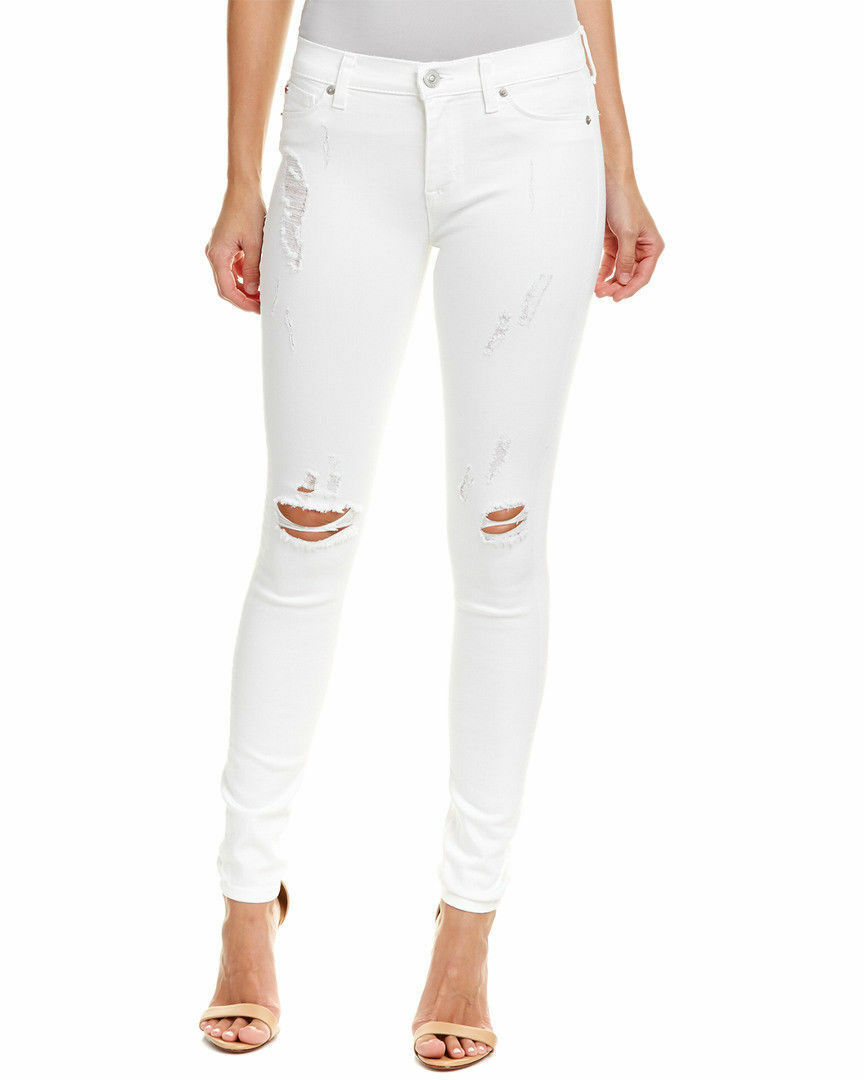 Hudson Jeans Women's Nico Midrise Super Skinny White Mult Sz MSRP   185.00