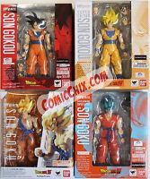 Dragonball Z Sh Figuarts Set Goku, Ss Goku, Awakening, Super Saiyan God Goku