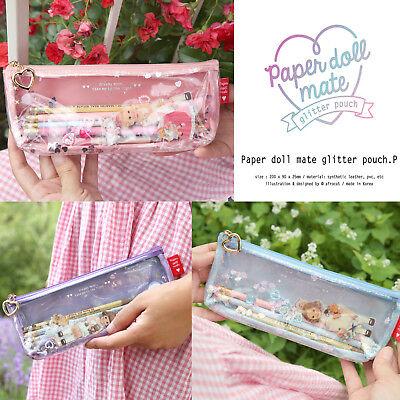 Afrocat Paper Doll Mate Glitter Pouch P Pencil Brush Case Multi Purpose Wallet
