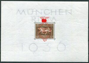 Deutsches-Reich-DR-Block-Nr-10-postfrisch-Braune-Band-1937-Michel-180-MNH