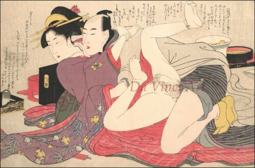 8 by Utamaro JAPANESE SHUNGA ART PRINT Reproduction No Japanese Art Print