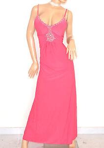 d3696a87a6ca Caricamento dell immagine in corso ABITO-LUNGO-elegante-ROSA -FUCSIA-strass-cristalli-vestito-