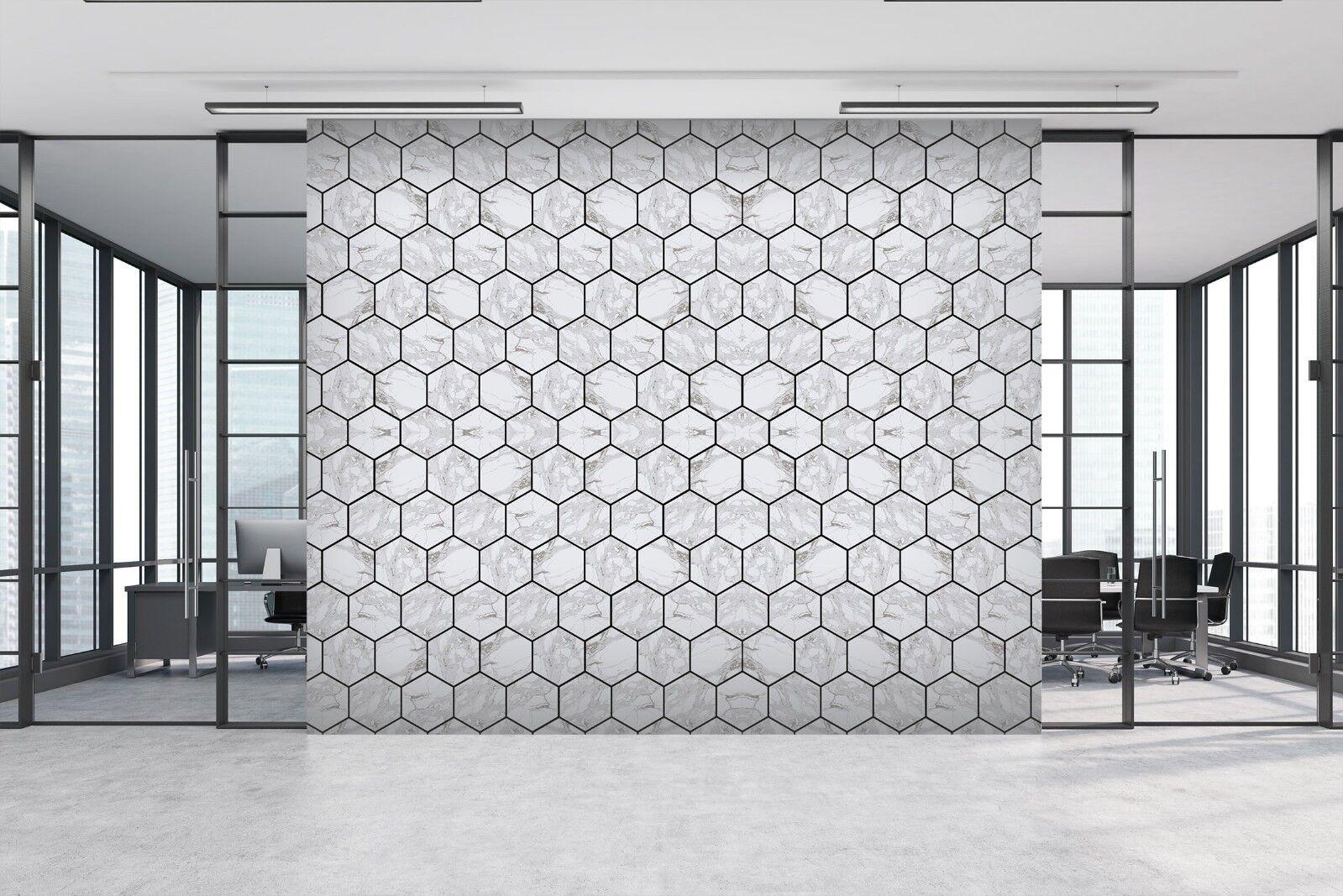 3d esagonali pietra mattone 457 texture piastrelle marmo muro carta da decalcomania murale carta - Piastrelle muro pietra ...