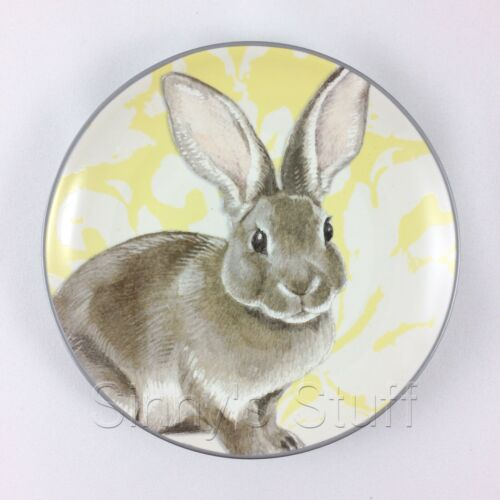 "1 Williams Sonoma Easter Damask Bunny 6/"" Appetizer Plate Choose Pink or Yellow"