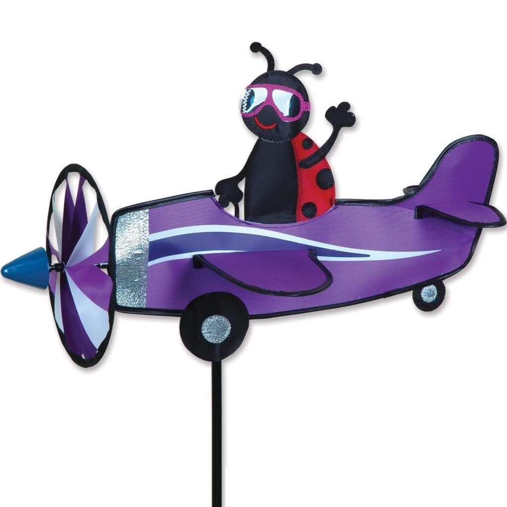 Ladybug Pilot Pal Staked Airplane Wind Spinner  ..17......PR 26802