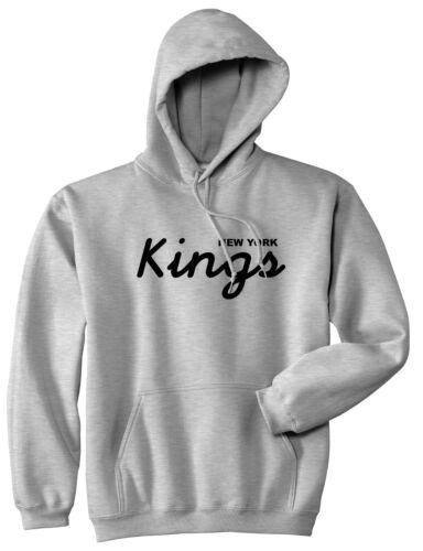 Kings Of NY Kings Script New York Logo Pullover Hoodie Sweatshirt