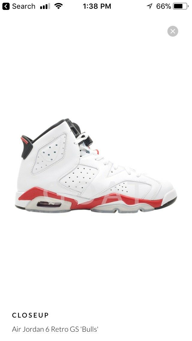 Jordan Jordan Jordan Bulls 6's Sz 6Y 864042