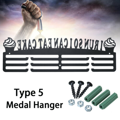 1x Medal Display Hanger Holder Running Sport Rack Hook Shelf Wall Decor 3