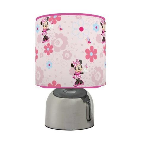 MINNIE MOUSE TOUCH TABLE BEDSIDE LAMP KIDS ROOM 2 DESIGNS RED PINK  BRAND NEW