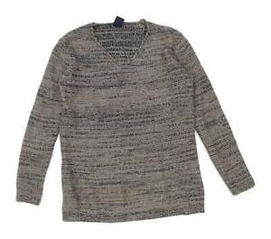 Gap-Womens-Size-XS-Cotton-Blend-Brown-Glitter-Jumper-Regular