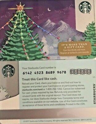"""2017 STARBUCKS CHRISTMAS /""""LIGHTED HOUSE/"""" GIFT CARD SERIES 6142 G"""