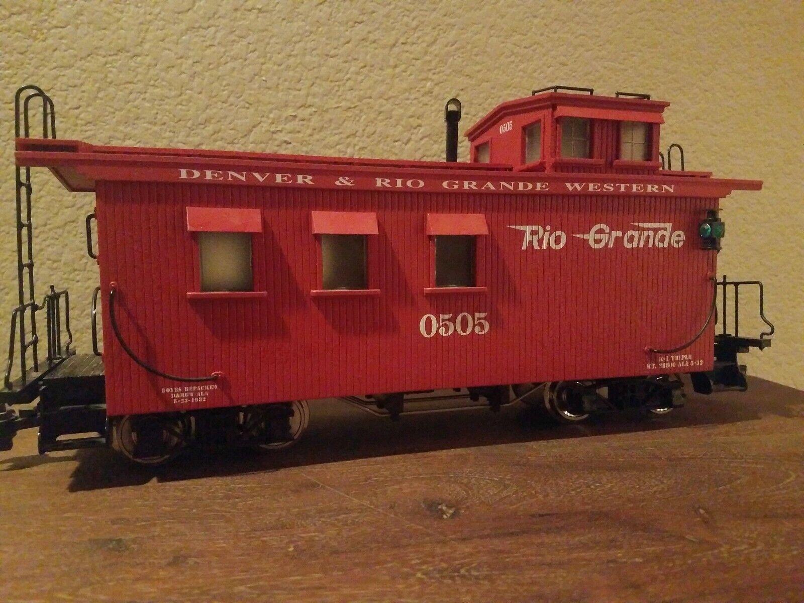 USA i treni Rio Gree Western Woodsided Caboose R12001 in scatola