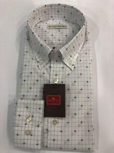 wholesale dealer d187b c5636 Dettagli su ETRO CAMICIA BIANCA UOMO MICROFANTASIA MOD.13864-3014-200  SCONTO 50%