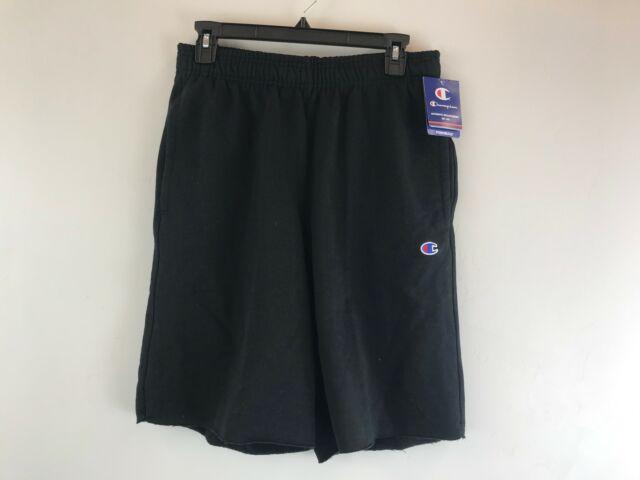 Men's Champion Powerblend Fleece Shorts With Pockets -Size XL- Black