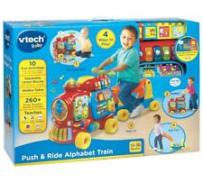 VTech Baby Push and Ride Alphabet Train  Cart 260+ Songs Sounds 12-36