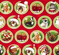 Tierische Weihnachten Patchworkstoffe Stoffe Weihnachten Weihnachtsstoff Tiere