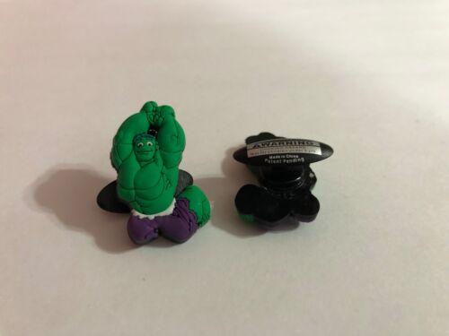 The Hulk Figure Shoe-Doodle goes in holes Rubber Shoes Crocs Shoe Charm SPDR2002