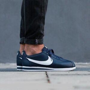 Details about Nike Classic Cortez Leather Midnight NavyWhite 749571 414 Men's Sz 10.5