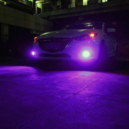 2PCS 100W Power 14000K Purple Beam LED Daytime Running Lights Fog Lamps Kit