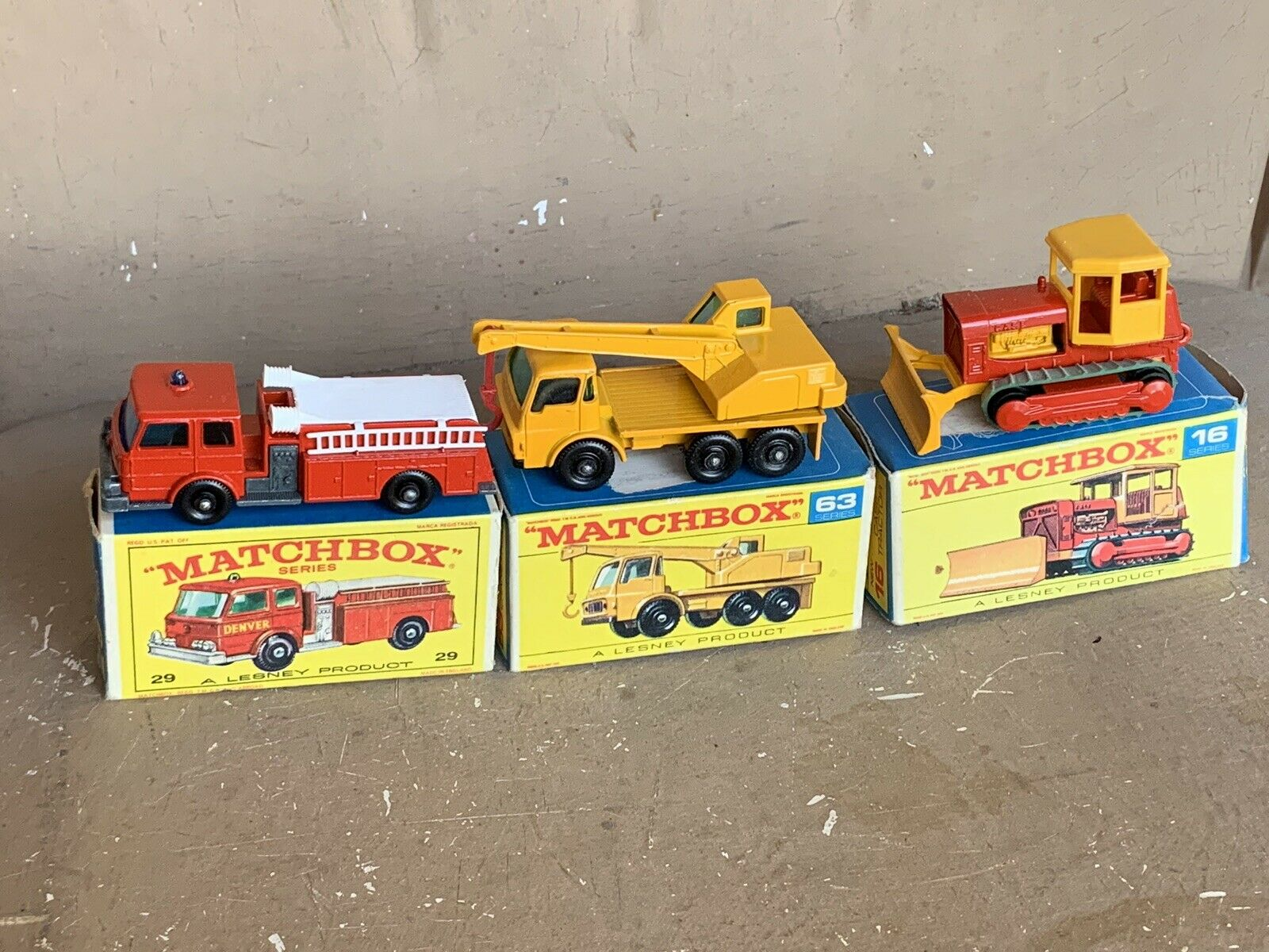 3 LESNEY MATCHBOX Mint In Original Boxes 16-29-63