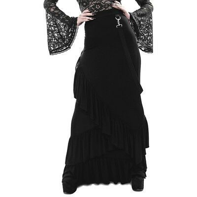 Angelina Schlitze Killstar Gothic Goth Okkult Victorian Spitze Rock Maxirock