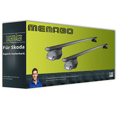+ EBA Menabo Tema für Skoda Superb Stufenheck Typ 3U kpl Dachträger Stahl