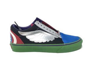 Vans Old Skool Marvel Avengers Multi Men s 10.5 Skate Shoes New ... d9bd87690