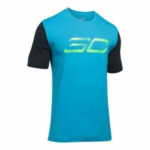 Diligent Under Armour Kids T Shirt Sc à Manches Courtes Top Junior 9 - 10 Ans Bleu R241-8-afficher Le Titre D'origine