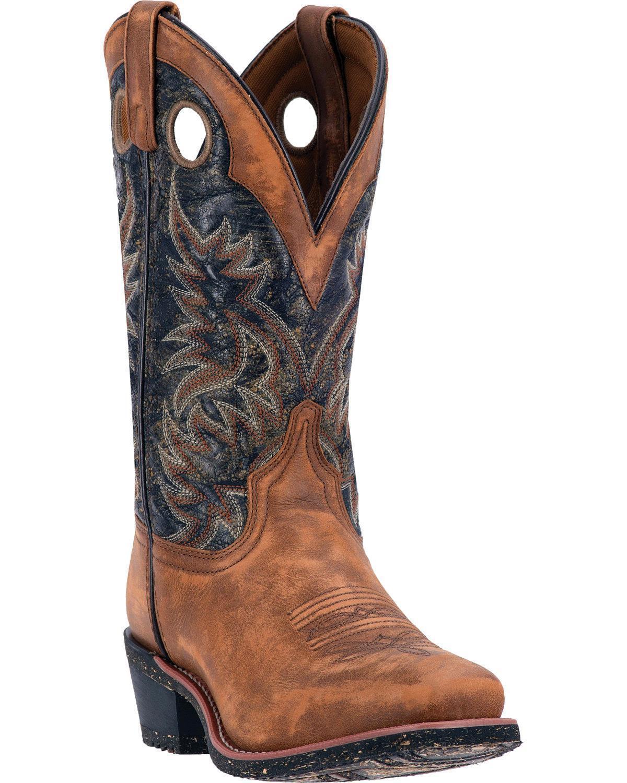 Para Hombre botas de vaquero occidental Larojoo todavía de agua 68358 Nuevo En Caja