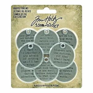 Tim-Holtz-idea-ology-Quote-Tokens-Metal-Tags-Stamped-With-Quotes-8pc