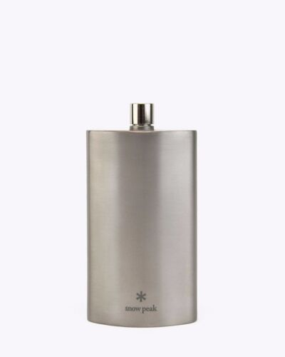 snow peak T-013 FLASK TITANIUM with Synthetic Leather Case NEW from Japan L