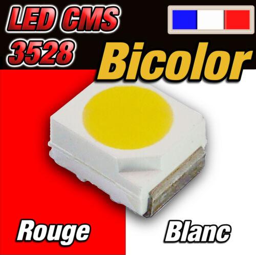 white 128# LED CMS 3528 bicolor rouge et blanc  dispo 10 à 100pcs red