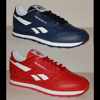 Reebok Classic Leather CU Men's Shoe Red or Blue AR2445 & AR2446