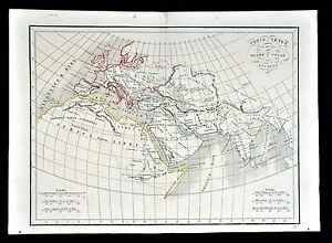 1830 Langlois Atlas Map Orbis Vetus Ancient World Rome Athens Egypt