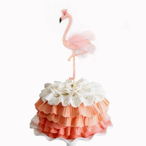 Packung mit 10 Stück Hawaiian Flamingo Cake Topper Party Kuchen Dekoration