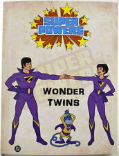Super Powers WONDER TWINS - ZAN, JAYNA & GLEEK MODEL SHEET PRINT Hanna Barbera