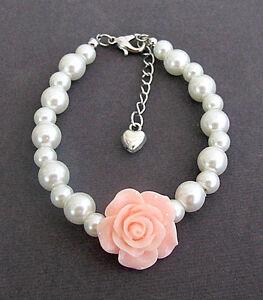 Image Is Loading Flower Bracelet Pearl Child Ask