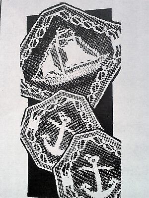 6442 Vintage Filet GRAPEVINE Chair Set Pattern to Crochet Reproduction