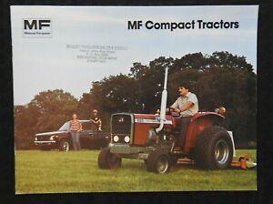"1979 MASSEY-FERGUSON ""MF 205 210 220 COMPACT TRACTOR"" CATALOG BROCHURE EXCELLENT"