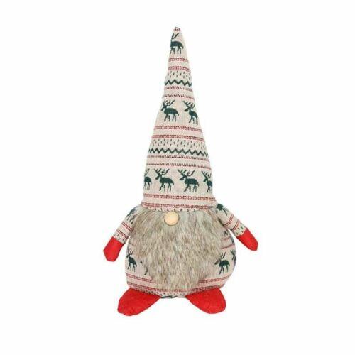 Gisela Graham Knitted Fabric Christmas Gnome Large Cream