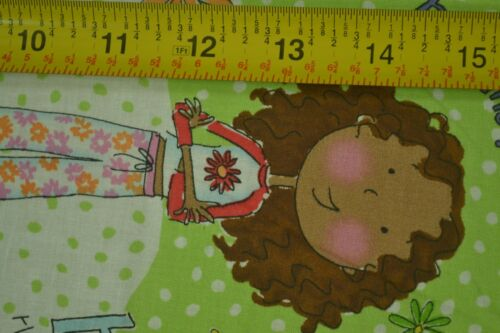 """By-the-Half-Yard Girl Talk on Green Quilter/'s Cotton 44/"""" VIP M5610"""