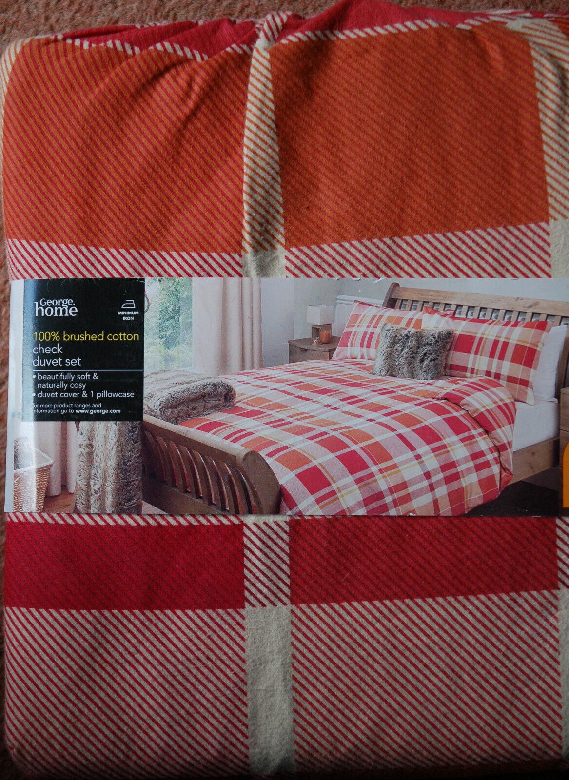 NEW Single Brushed Cotton Flannelette Duvet cover Dark Beige Warm